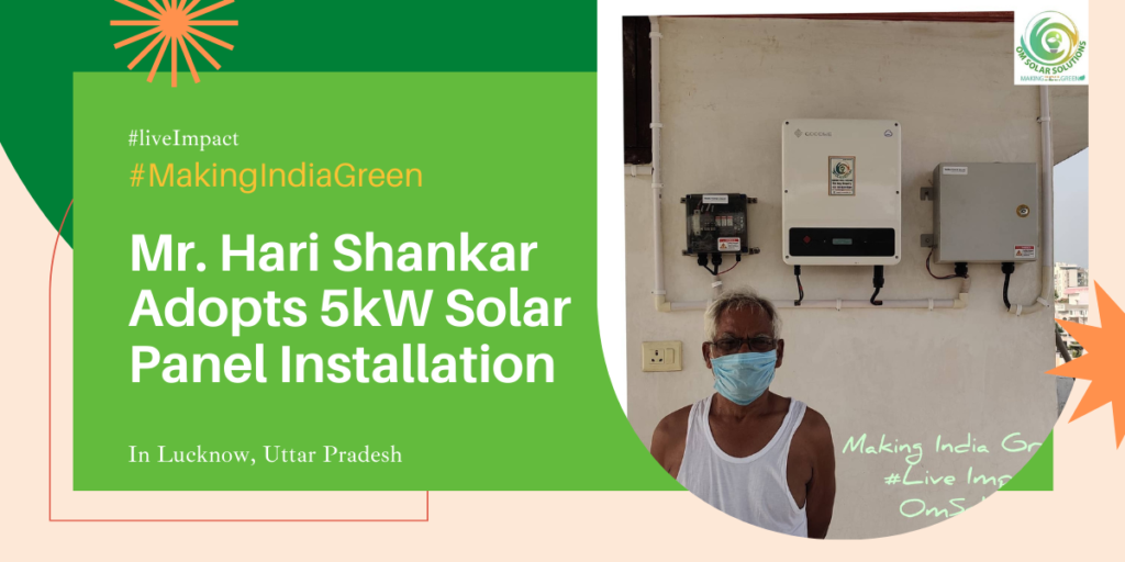 5kW Solar Panel Installation in Lucknow by Om Solar Solutions